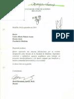 Tarjetas de felicitación al nuevo decano de @medicina_udea