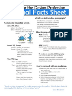 Personal Facts Sheet