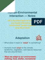 human-environmental interaction 2