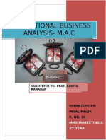 International business analysis of M.A.C cosmetics