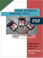 International business analysis of M.A.C cosmetics