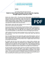 PR - Death of Jean-Claude Duvalier will not stop the ongoing struggle against impunity in Haiti - 2014-10-04.pdf