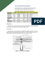 Focus on Liquid Flow Measurement