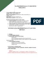Intoxicatia Profesionala Cu Solventi Organici