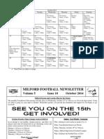 Oct FB Calendar & Newsletter 2014