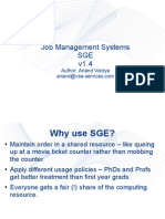 Job Management Systems SGE v1.4