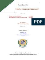 Project Report on Liquid Nitrogen