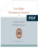 Fairfax County Joint Budget Development Committee, FY2016 Financial Forecast