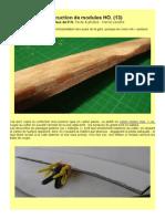 MODÉLISME FERROVIAIRE  à l'échelle HO. (13) Construction de modules d'exposition. Quais et feux de P.N. Par Hervé Leclère