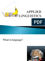 Applied Linguistics (Intro)