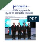 04-10-2014 e-consulta.com - Plantea RMV apoyo de la BUAP en proyectos estatales.