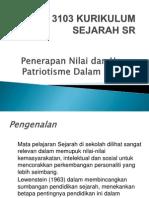 5.1 Penerapan Nilai Dan Patriotisme Dlm Sejarah