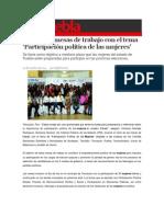 05-10-2014 S Puebla - IPM inicia mesas de trabajo con el tema Participación política de las mujeres.
