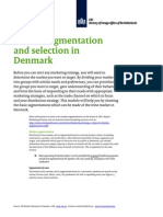 2011 Market Segmentation and Selection in Denmark