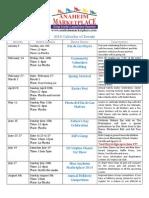 2014 event calendar