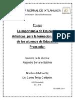 La importancia Educación Artísticas  para la formación integral de los alumnos de Educación Preescolar ENSAYO.pdf