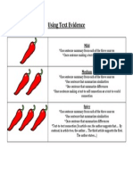 using text evidence