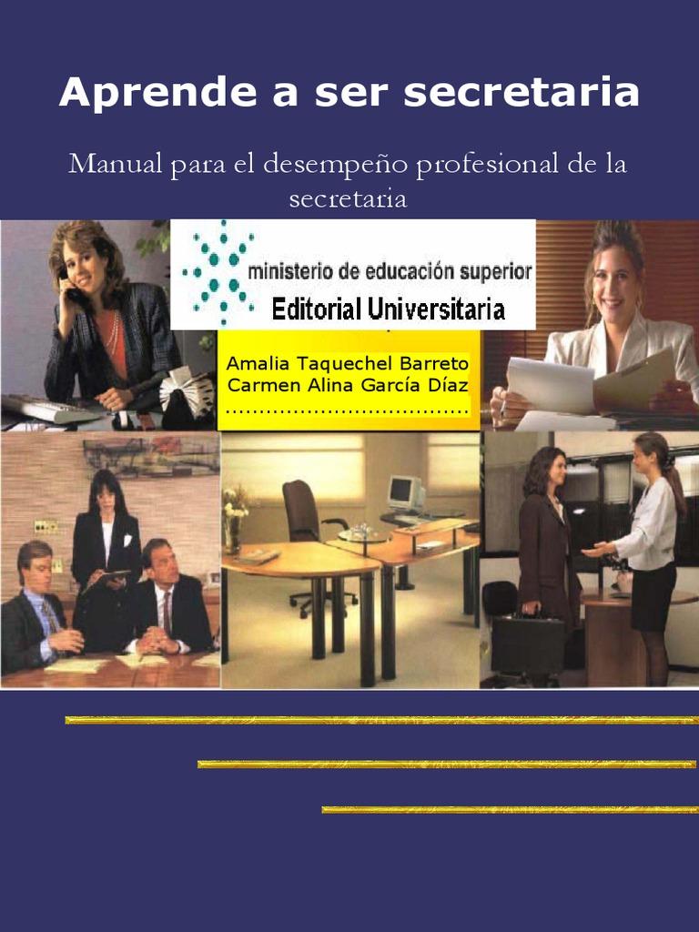 Aprende a ser secretaria_ manual para el - Taquechel Barreto ...