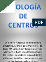 Tipologia de Centros Educativos