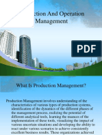 Production and Operation Management Pp t