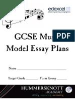 Edexcel Music Model Essay Booklet