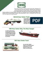 50 Years of Hess Toy Trucks