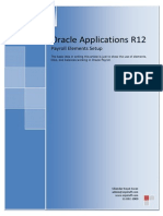 Oracle Applications R12 - Payroll Elements Setup