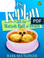 Mrs. Kaplan and the Matzoh Ball of Death by Mark Reutlinger (Chapter One Excerpt)
