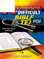 Answers to Difficult Bible Texts