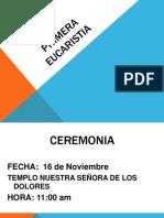 PRIMERA  EUCARISTIA.pptx