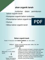 Bahan Organik Tanah (Revisi 2013)