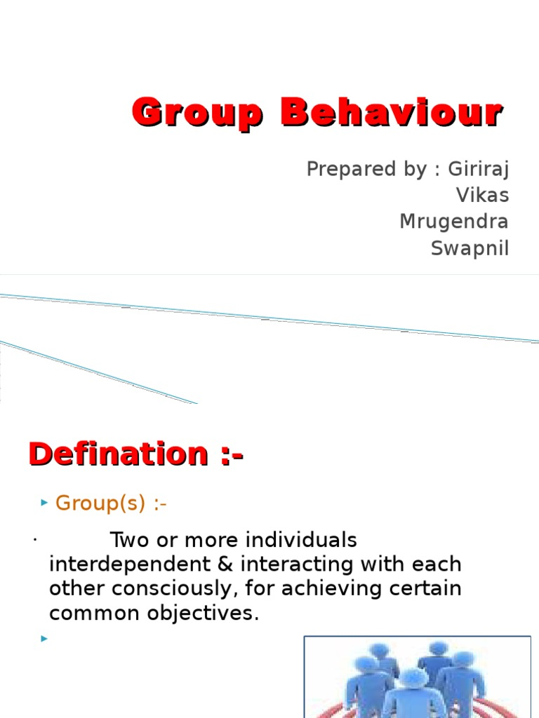 group behaviour The unit has a dual task: first, to develop students' understanding of concepts encountered in the literature on group processes (the seminar group will discuss set readings each week.