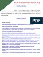 Kabbalah El Poder De Cambiarlo Todo Yehuda Berg.pdf