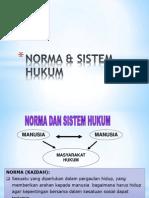 1 Norma & Sistem Hukum
