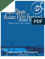 2010 San Diego Asian Film Festival Sponsorship Packet
