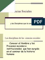 Ciencias Sociales y disciplinas que la componen.ppt
