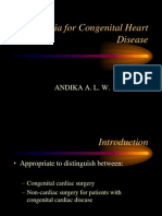 Anesthesia for Congenital Heart Disease
