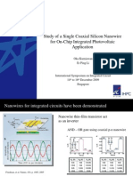 Presentation slides for Study of a Single Coaxial Silicon Nanowire for On-Chip Integrated Photovoltaic Application