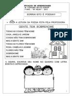 VERIFICAÇÃO  DE  APRENDIZAGEM  DE PORTUGUÊS 1º ANO.doc