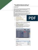 Cómo agregar fuentes de sonido a un proyecto de Cakewalk Sonar MIDI.doc