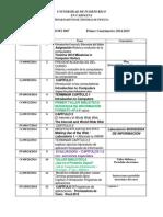 Distribución de Tiempo SOFI 3067 2014 15