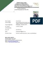 formulir FOTOGRAFI INSECT DAY UGM 2014+Data Diri