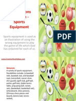 Bible Lessons for Youth - Sports Equipment