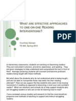 one-on-one reading interventions