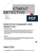 investment detective Case 17 the investment detective this case is laid out in a more direct fashion in comparison with most of the cases that we have reviewed thus far.