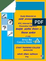 KYC, Internal Control and Preventive Vigilance