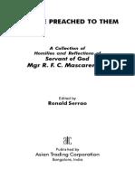 Thus He Preached to Them- Sermons of Msgr RFC Mascarenhas