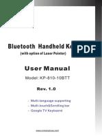 Manual - IPazzPort Bluetooth Keyboard and Mousepad (KP-810-10BTT)