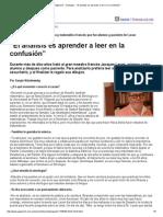 """Página_12 __ Dialogos __ """"El análisis es aprender a leer en la confusión"""".pdf"""