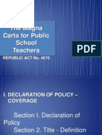 The Magna Carta for Public School Teachers REPUBLIC ACT No. 4670